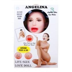 vibrační nafukovací panna Angelina 3D