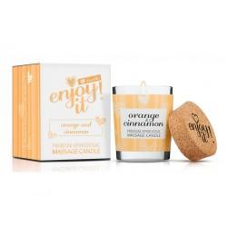 masážní svíčka MAGNETIFICO - ENJOY IT! ORANGE AND CINNAMON