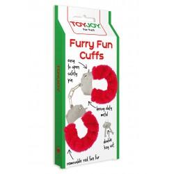 Pouta Toy Joy Furry Fun Cuffs red