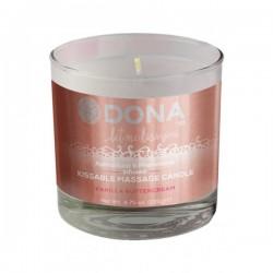 Slíbatelná masážní svíčka DONA Vanilla