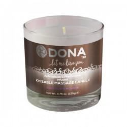 Slíbatelná masážní svíčka DONA Chokolate