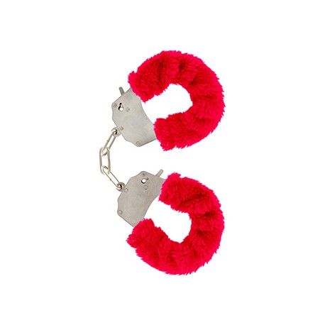 Pouta Toy Joy Furry Fun Cuffs red