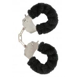 Pouta Toy Joy Furry Fun Cuffs černá