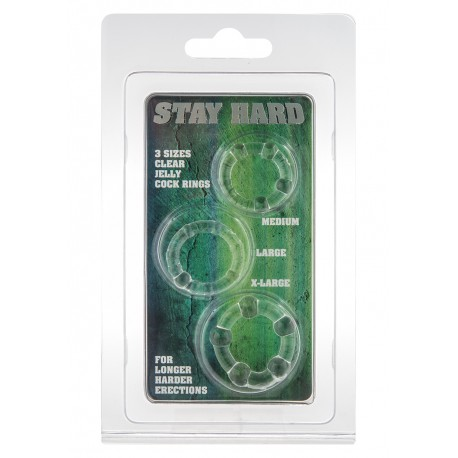 sada tří erekčních kroužků Stay Hard