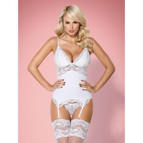 Korzet 810-COR white corset - Obsessive