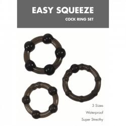 Set erekčních kroužků  Easy Squeeze