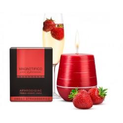 afrodizikální vonná svíčka Magnetifico Aphrodisiac candle - Sweet Strawberries