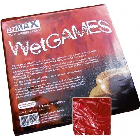 Plachta Wet Games SexMax- červené