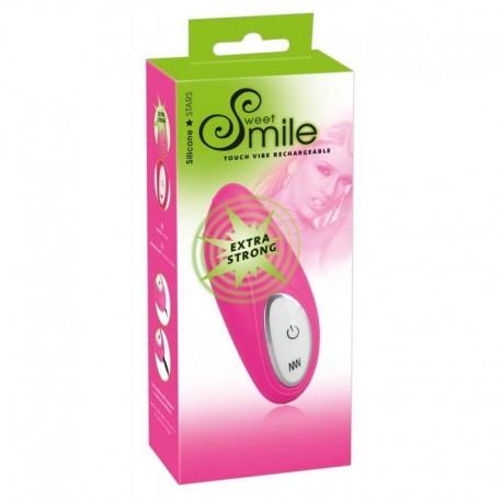 Ssmile Touch Vibe rechargeable - přikládací vibrátor- růžový