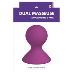 Kinx Dual Masseuse Nipple Suckers 2 Pack- přísavky na bradavky