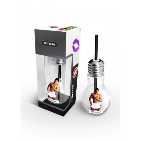 Hot Shot- Sklenice ve tvaru žárovkyy