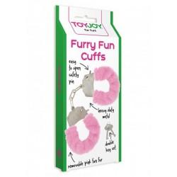 Pouta na ruce Furry Cuffs Pink