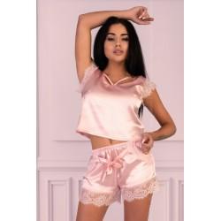 Pohodlné pyžamo Veilet pink - LivCo Corsetti
